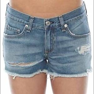 rag & bone distressed shorts W1907K273BIG Sz 27